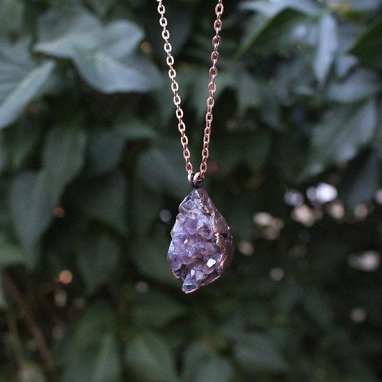 Amethyst raindrop necklace