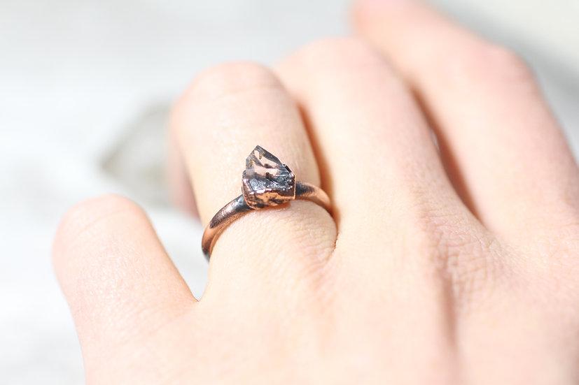 Little Herkimer Diamond ring