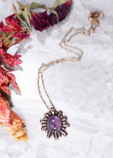 Amethyst Cosmic Ray necklace