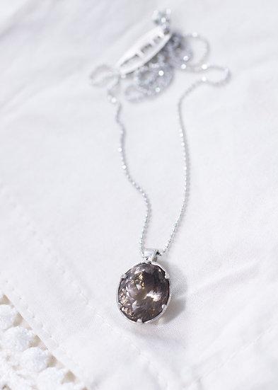 Oval cut California Smoky Quartz necklace