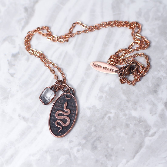 Cosmic Snake necklace copper