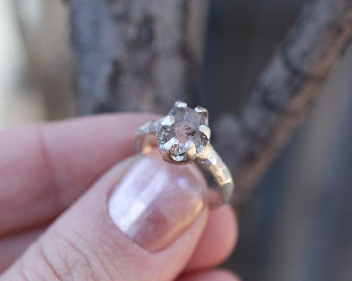 Herkimer Diamond in fine silver