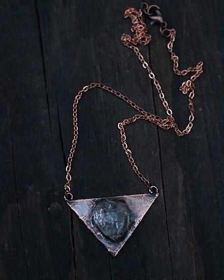 Medium triangle Herkimer Diamond necklace