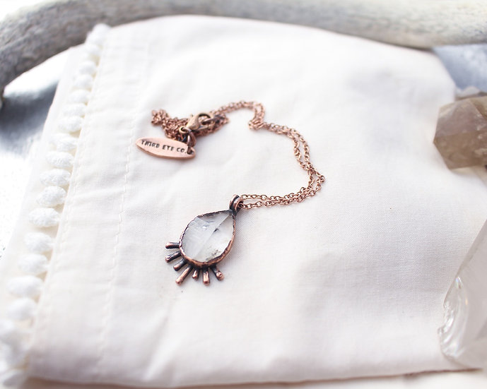 Herkimer Diamond  cosmic ray necklace