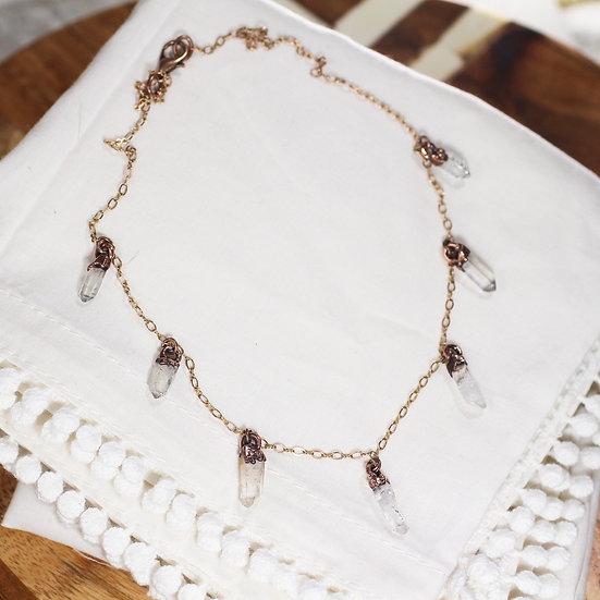 Quartz tassel necklace