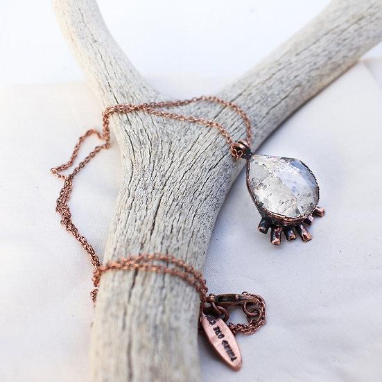 Herkimer Diamond cosmic ray necklace large