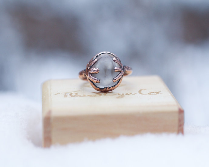 Polished Smoky Quartz ring