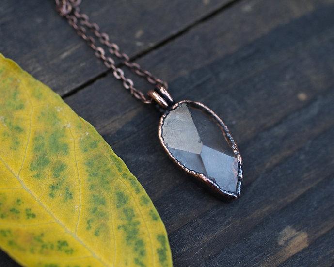 Herkimer Diamond raindrop necklace