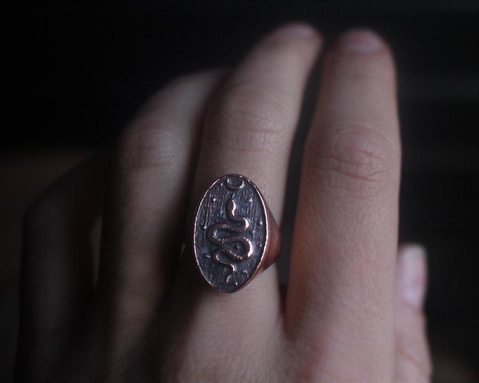 Cosmic snake ring - Copper