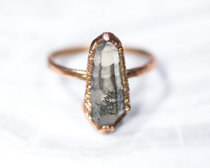 Chlorite included Smoky Quartz ring