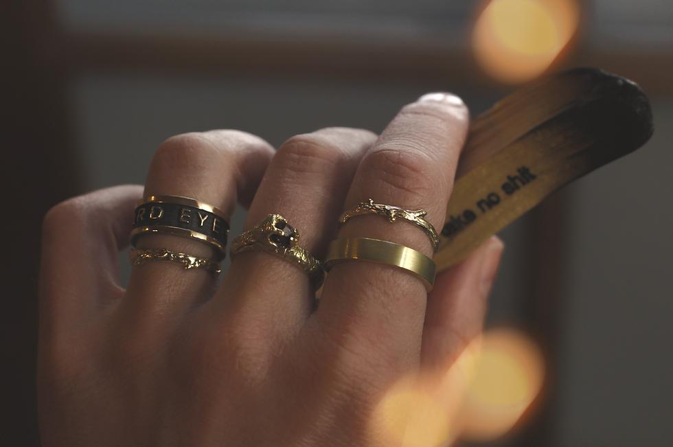 Custom gold hand