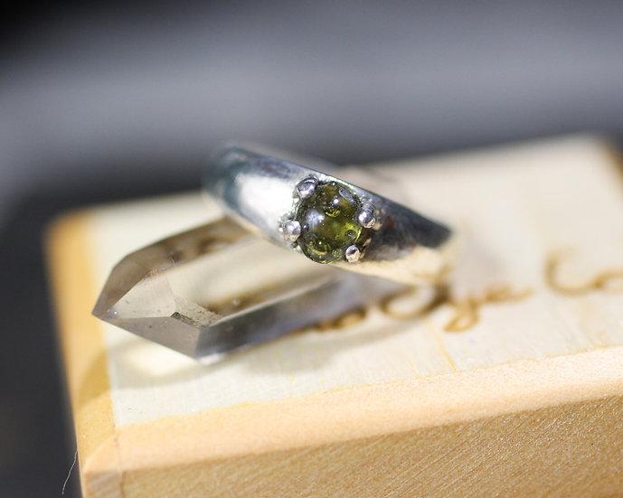 Natural Fulgurite (lightening glass) ring