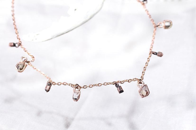 Topaz charm necklace