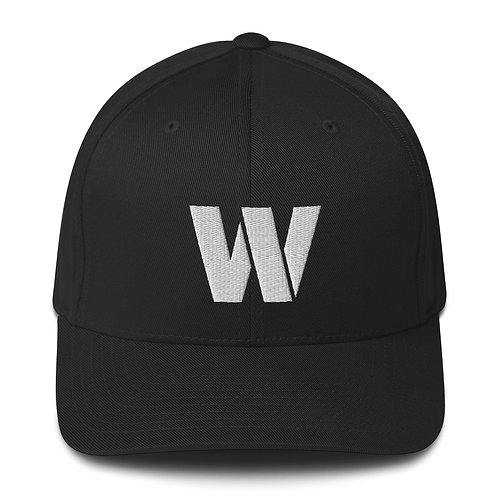 Warden Embroidered Flexfit Cap (White W)