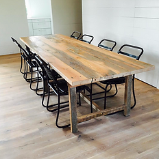 Reclaimed Wood Farm Table Charleston   Salt Wood Co