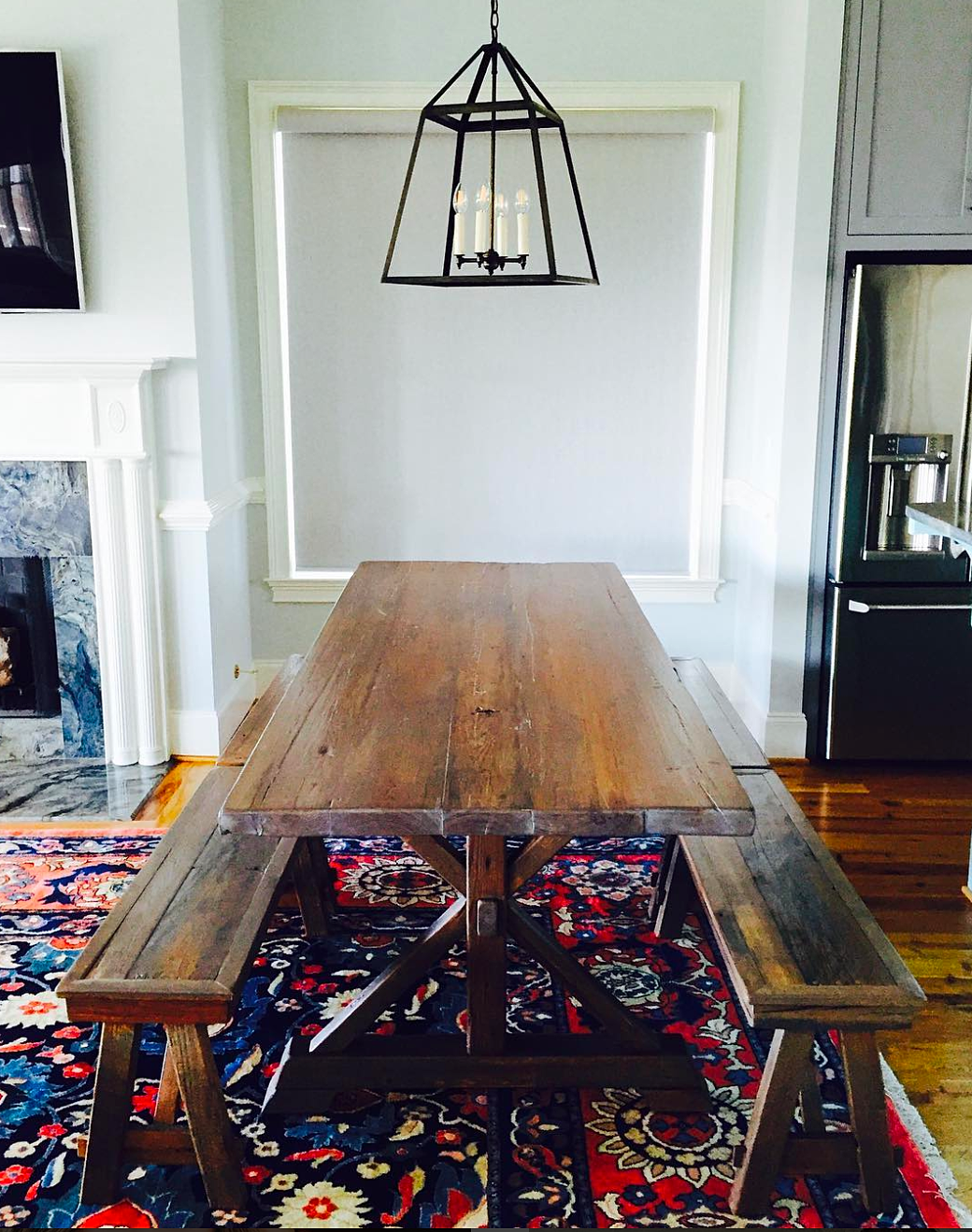 Reclaimed oak barn wood trestle table with coordinating benches. Handmade  in Charleston, SC. - Salt Wood Co. - Custom Reclaimed Wood Furniture In Charleston, SC