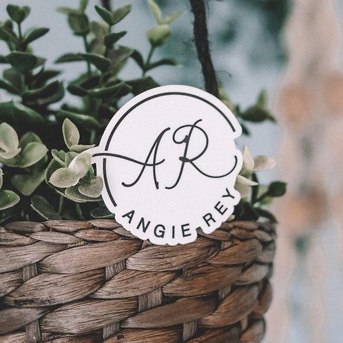 Angie Rey Sticker 3x3