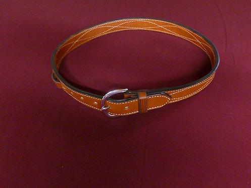 Stitched wetern style belt