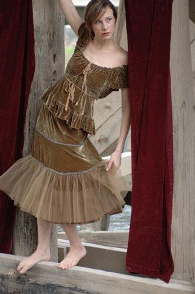 Bias Top & Tulle Skirt
