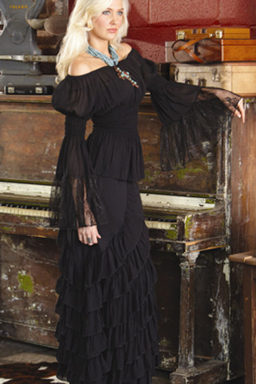 Zorro Skirt and Peasant Top with Lace
