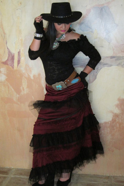 Cinderella Caramella Skirt & Lace T