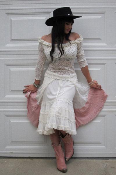 Krinolin Skirt & Lace Wrap