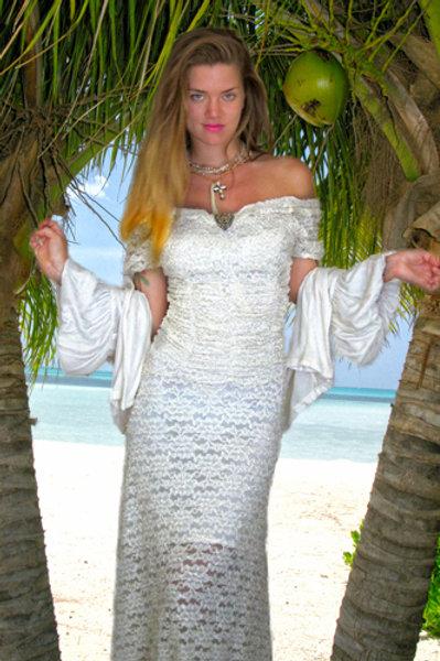 Corset Dress in Stretch Lace