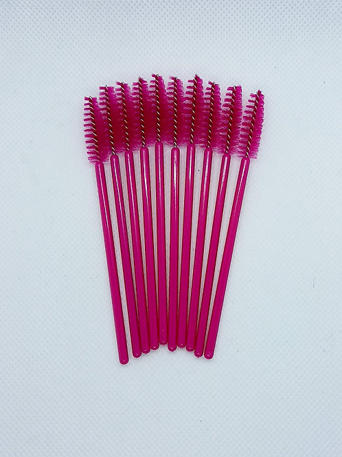 Rose Red Disposable Mascara Brushes - 10 pack