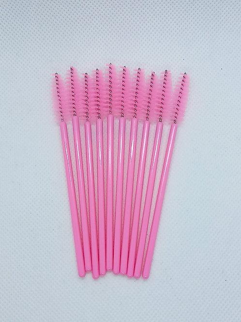 Pink Disposable Mascara Brushes - 10 pack