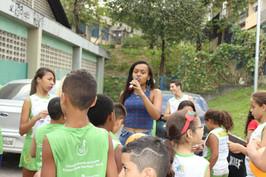 Ato pela Paz: Jovens líderes do Portinari lideram ato no Núcleo