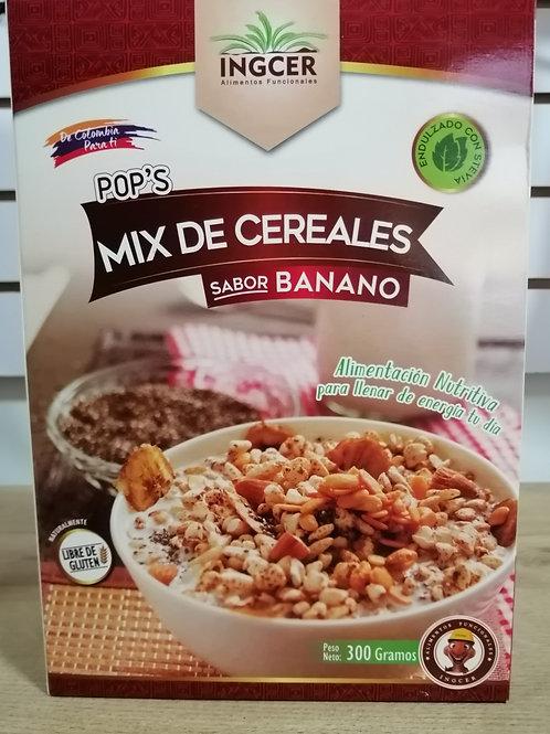 pops mix de cereales sabor banano