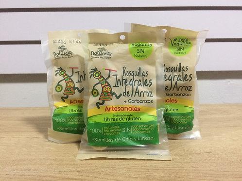 Rosquillas integrales de arroz 40g