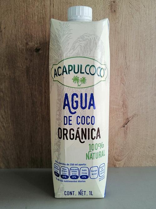 Agua de coco orgánica 1 lt