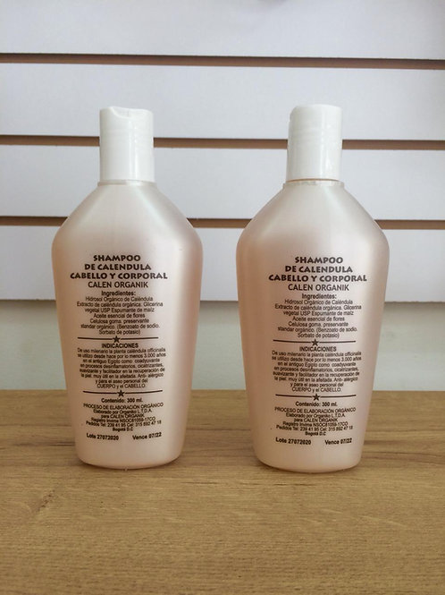 shampoo de caléndula cabello y corporal
