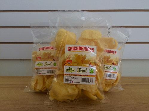 chicharrines de maíz naturales.