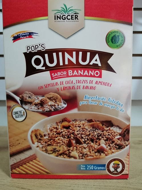 pops quinoa sabor banano