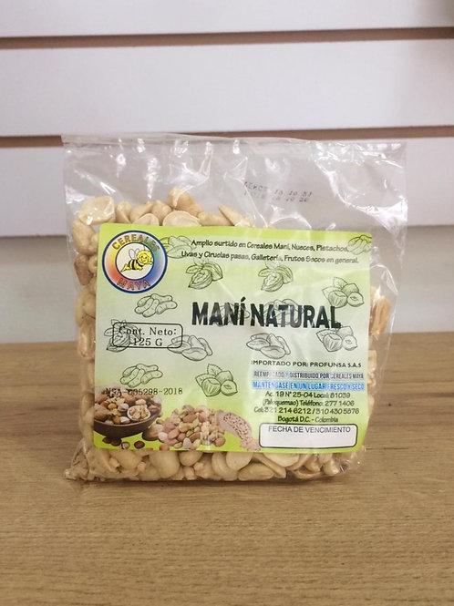 maní natural crudo 125 g