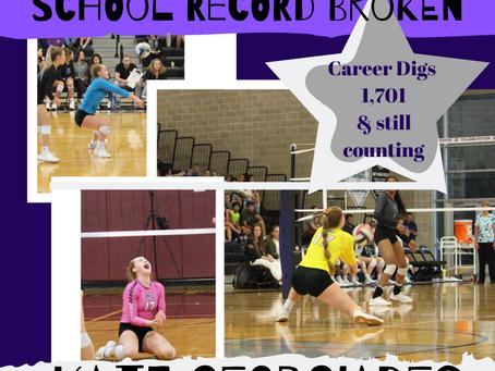 Georgiades breaks a school record!