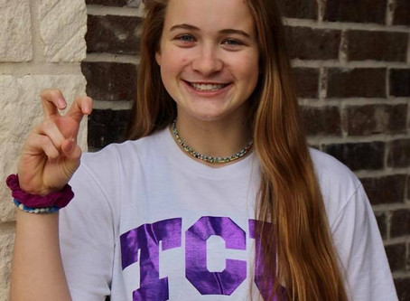 Kate commits to play at TCU!
