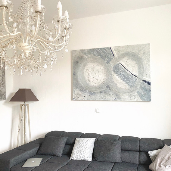 living room silver ambiente