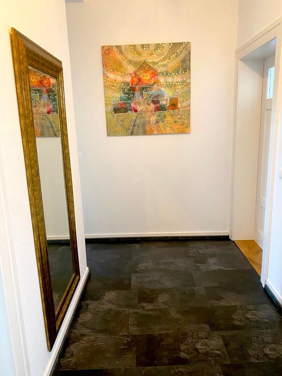 golden dark corridor ambience