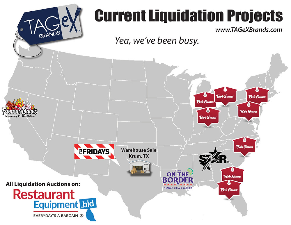 Map of current liquidation projects