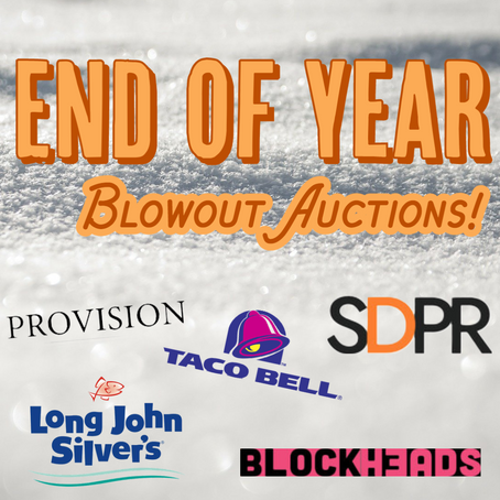 End Of Year Blowout Auctions