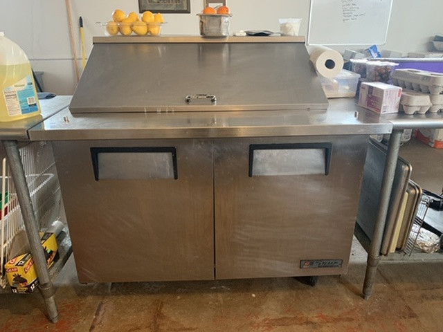 True Refrigerated Prep Table