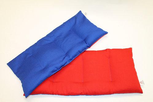 Kissen 20x45cm (1 Seite rot, 1 Seite blau)