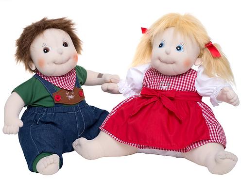 Puppen Pärchen Heike und Peter (Tirol Edition) - Empathie-/Demenzpuppe