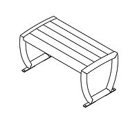 line drawing of wood seat chair