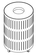 line drawing of litter receptacle