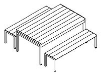 line drawing of picnic table