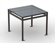 thumbnail of black metal square dining table
